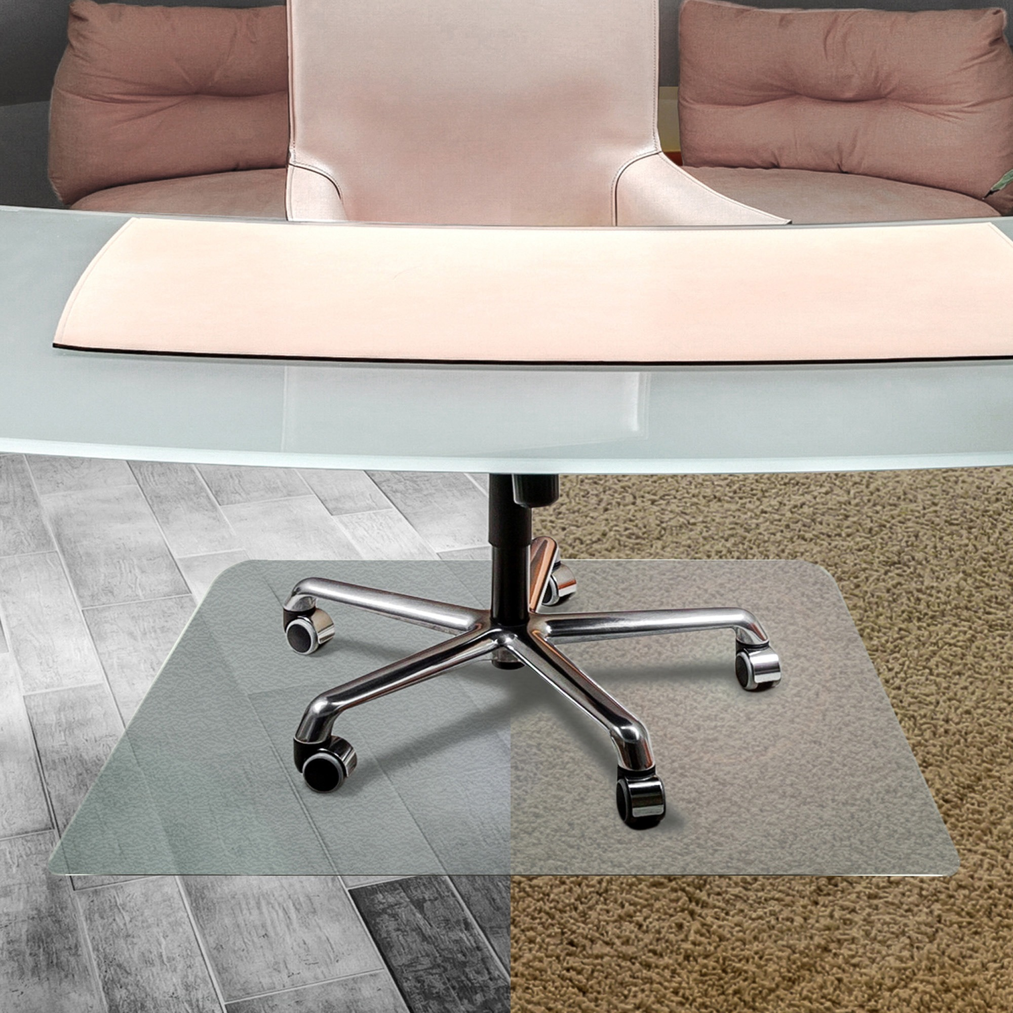 Cleartex UnoMat Hard Floor/Very Low Pile Chair Mat