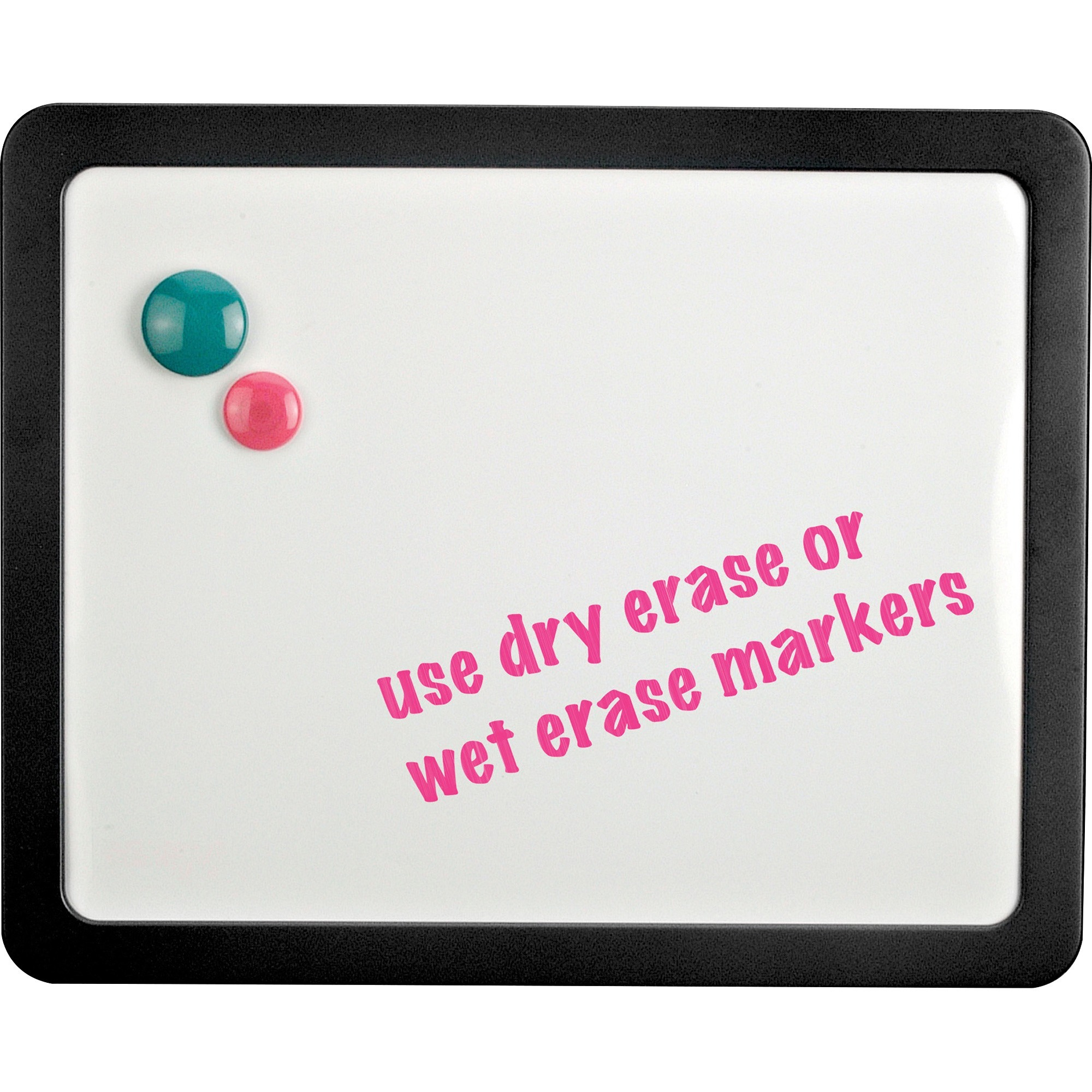 Lorell Magnetic Dry-erase Board - 15.9 (1.3 Ft) Width X 12.9 (1.1 Ft) Height - Black Frame - 1 Each