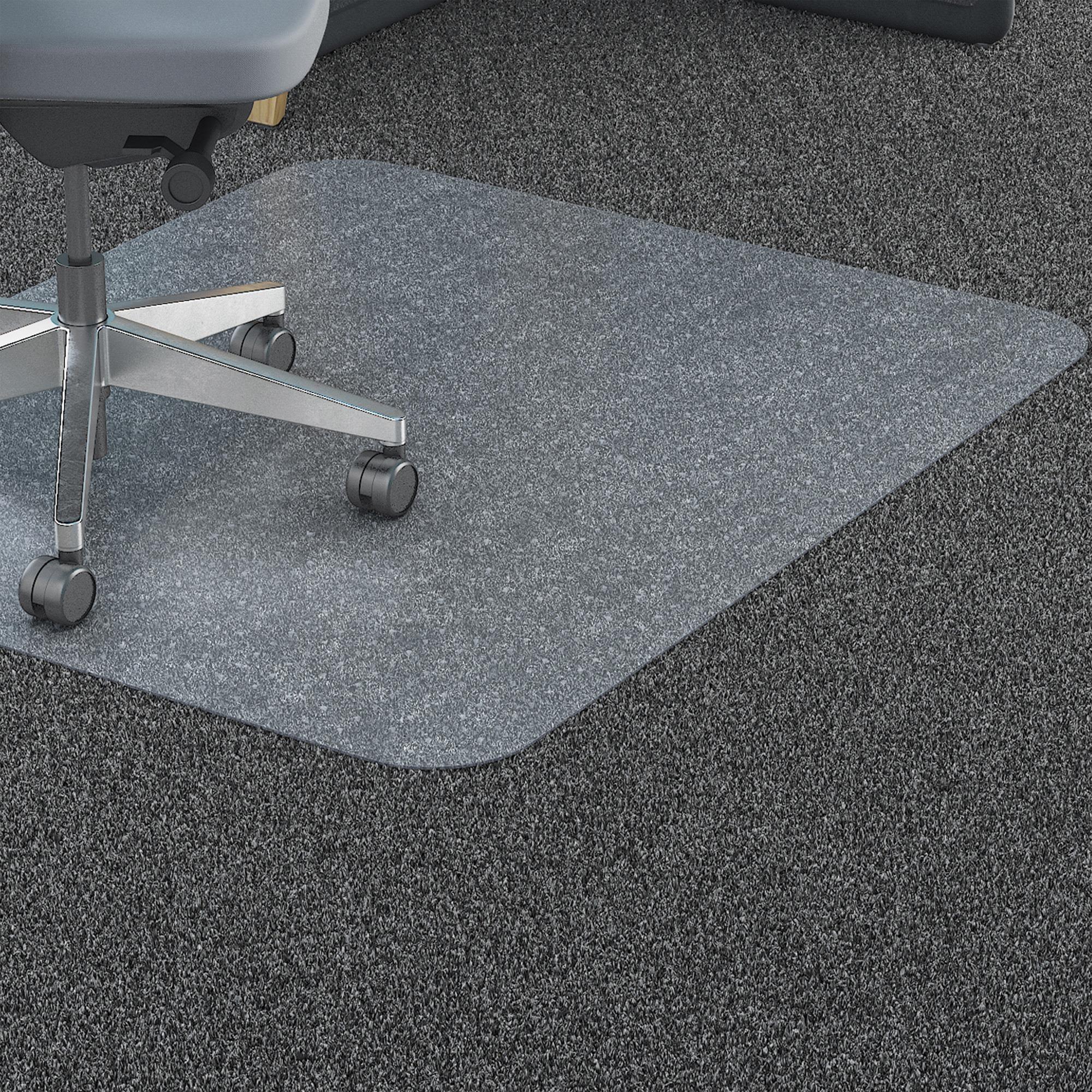 lorell polycarbonate rectangular studded chair mat llr69703