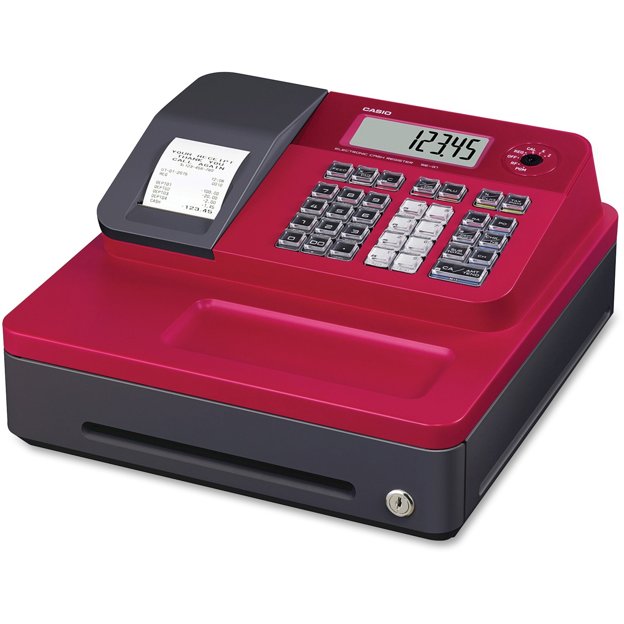 Image for Casio Computer Co., Ltd Casio SEG1 Single-tape Thermal Cash Register - 999 Plus - 8 Clerks - 24 Departments - Thermal Printing