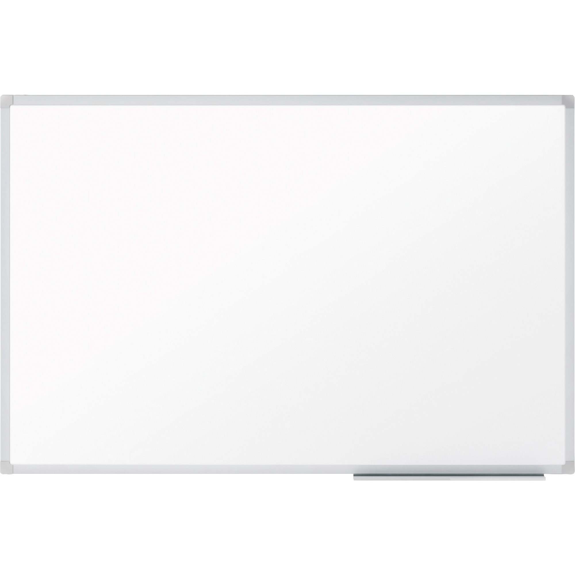 Acco Brands Corporation Mead Dry-erase Board With Marker Tray - 96.6 (8.1 Ft) Width X 48.6 (4.1 Ft) Height - White Melamine Surface - Silver Aluminum Frame - Wall Mount - 1 Each