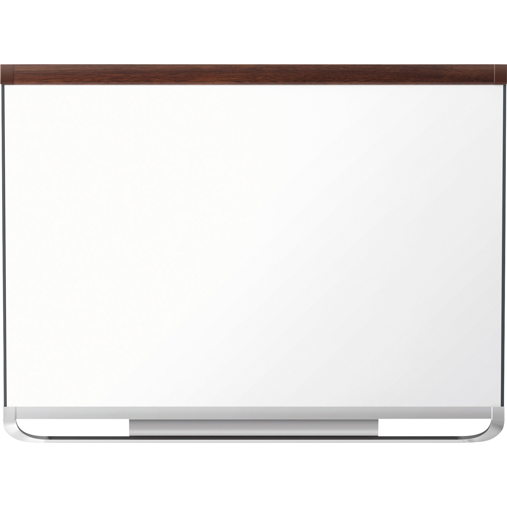 Acco Brands Corporation Quartet® Prestige® 2 Duramax® Porcelain Magnetic Whiteboard, 4 X 3, Mahogany Finish Frame - 48 (4 Ft) Width X 36 (3 Ft) Height - White Porcelain Surface - Mahogany Frame - Horizontal - 1 Each