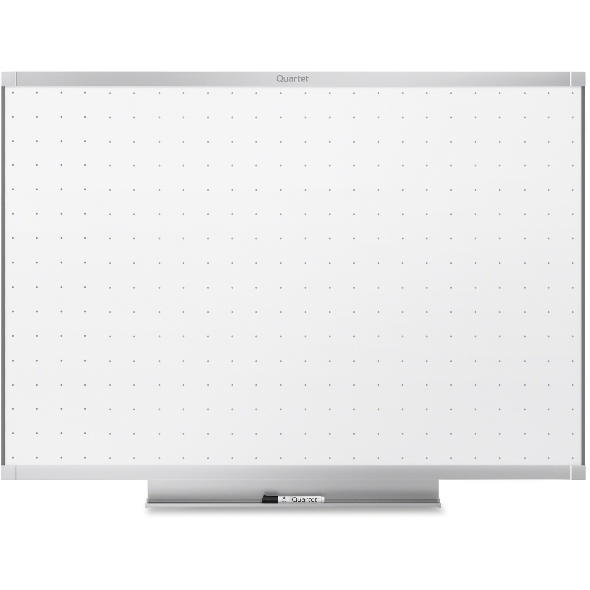 Acco Brands Corporation Quartet® Prestige® 2 Total Erase®whiteboard, 4 X 3, Graphite Finish Frame - 48 (4 Ft) Width X 36 (3 Ft) Height - White Surface - Graphite Frame - Horizontal - 1 / Each