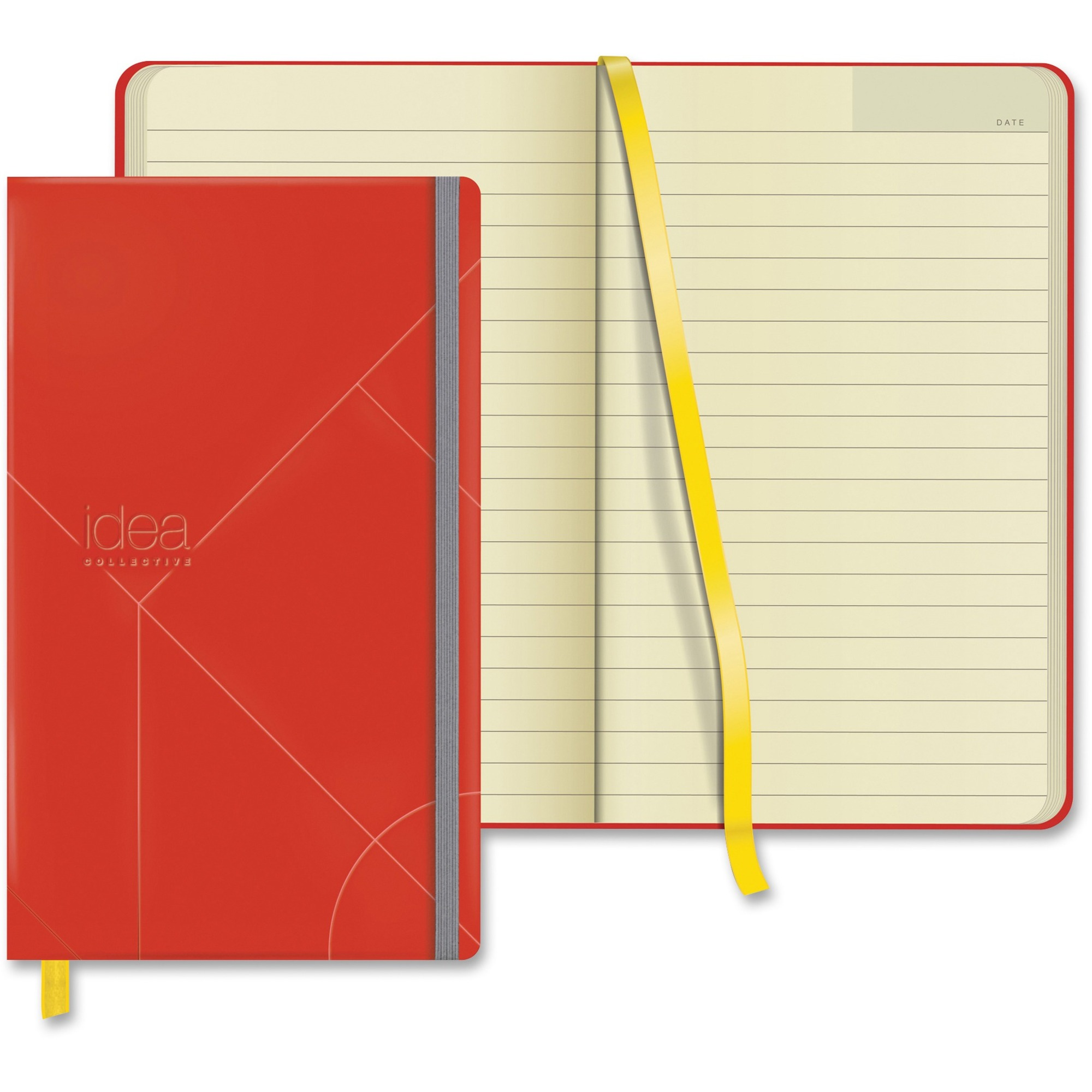TOPS Idea Collective Medium Hardbound Journal, Red, 120 Sheet, 80 g Paper