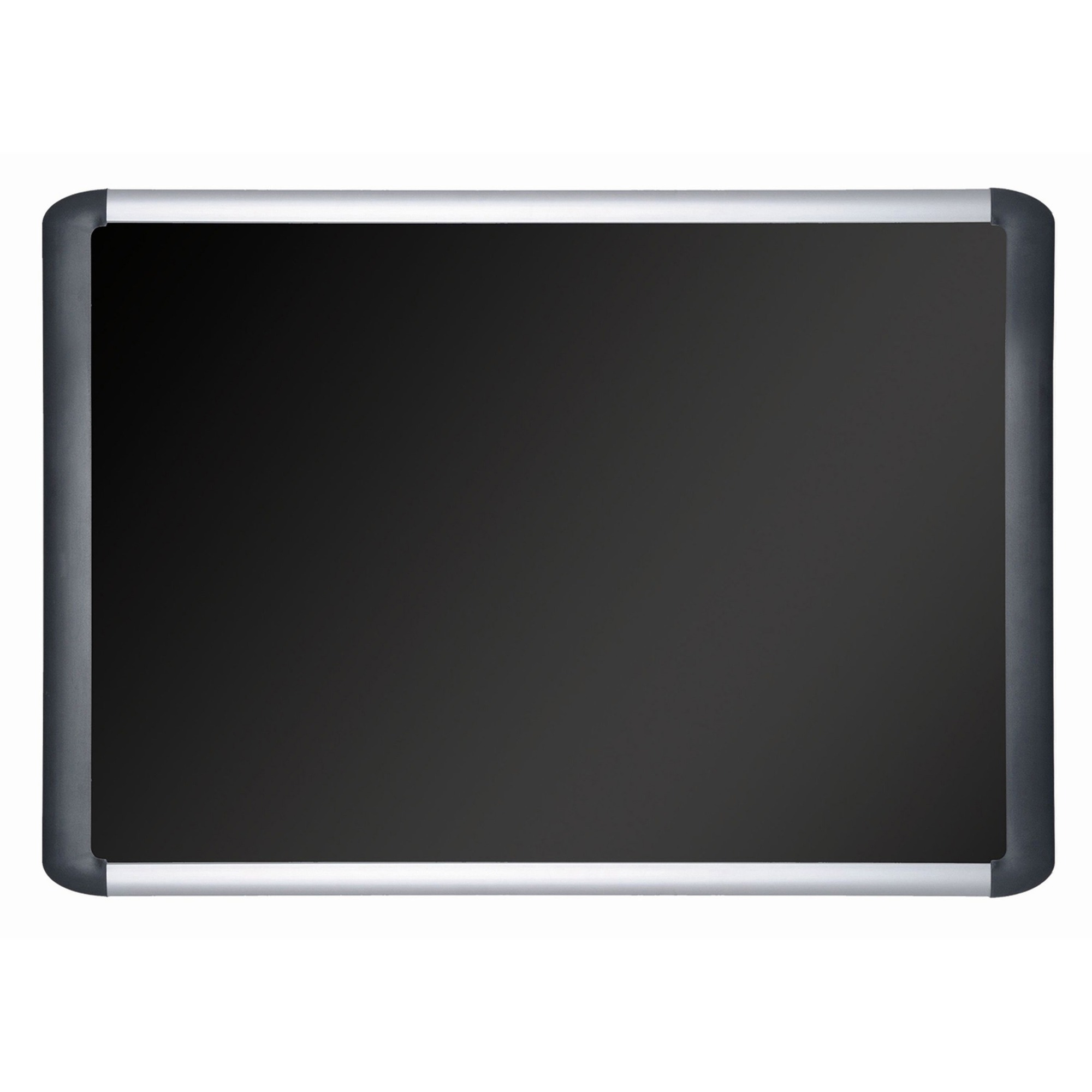 Bi-silque S.a Mastervision 6 Soft Touch Deluxe Bulletin Board - 48 Height X 72 Width - Black Fabric Surface - Sturdy - Black Aluminum Frame - 1 Each