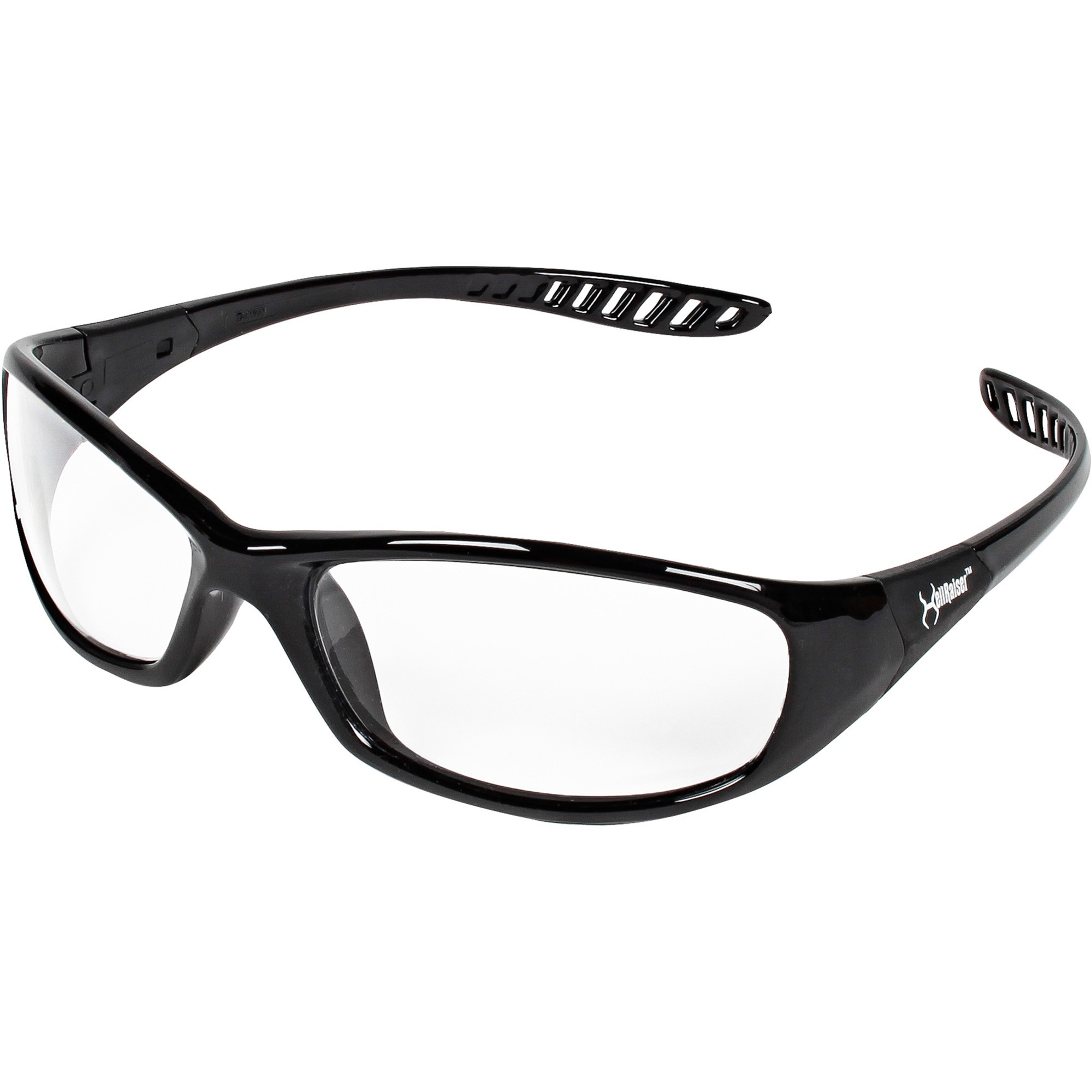 Kimberly-clark Corporation Jackson Safety V40 Hellraiser Safety Eyewear - Lightweight, Flexible, Comfortable - Ultraviolet Protection - Polycarbonate Lens - Clear, Black - 1 Each