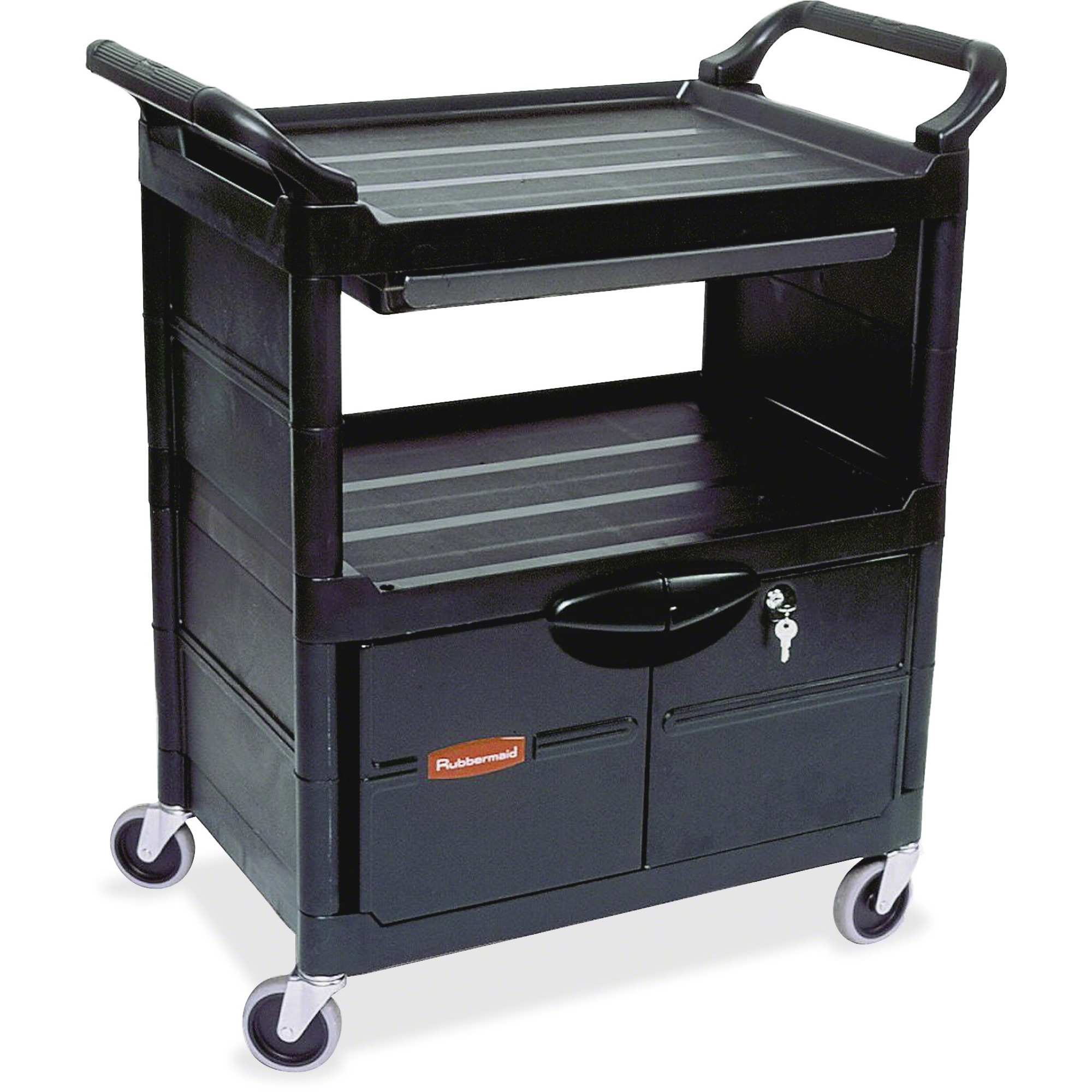 Rubbermaid Commercial Lockable Storage Utility Cart