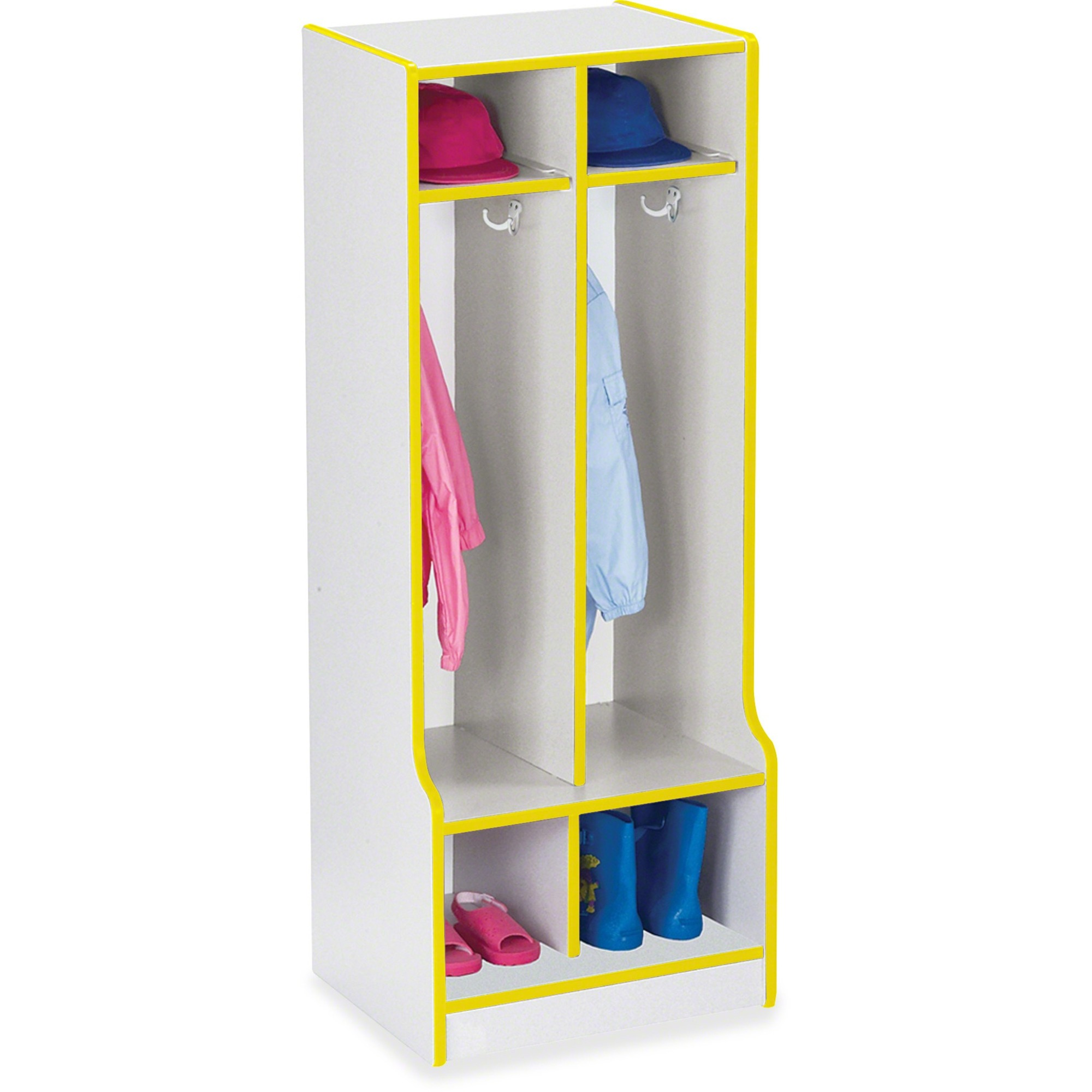 Rainbow Accents Rainbow Double Coat Hooks Step Locker