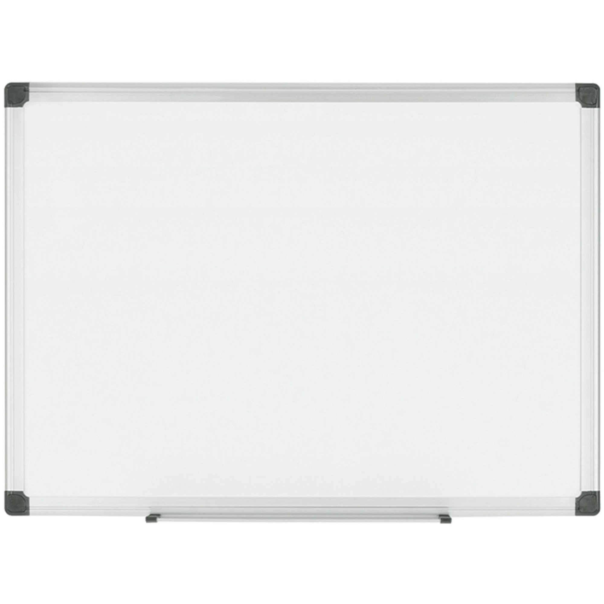 Bi-silque S.a Mastervision Porcelain Magnetic Dry Erase Board - 36 (3 Ft) Width X 24 (2 Ft) Height - White Porcelain Surface - Silver Aluminum Frame - Rectangle - Horizontal/vertical - Mount - 1 Each