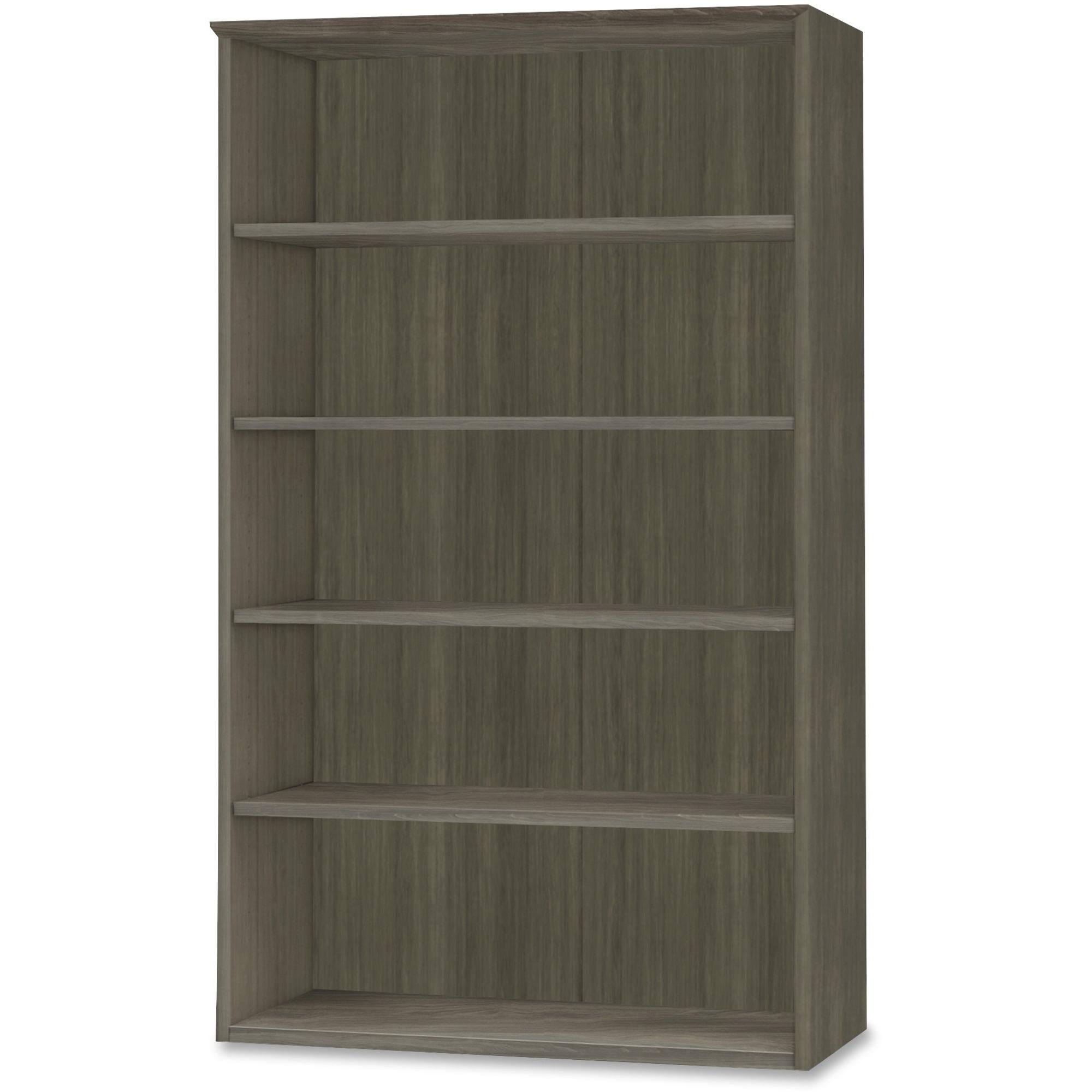 Mayline Group Mayline Medina Series Gray Laminate. 5-shelf Bookcase - 36 X 13 X 68BOOKSHELF, 1 Shelf - 5 Shelve(S) - Finish: Gray Steel Laminate