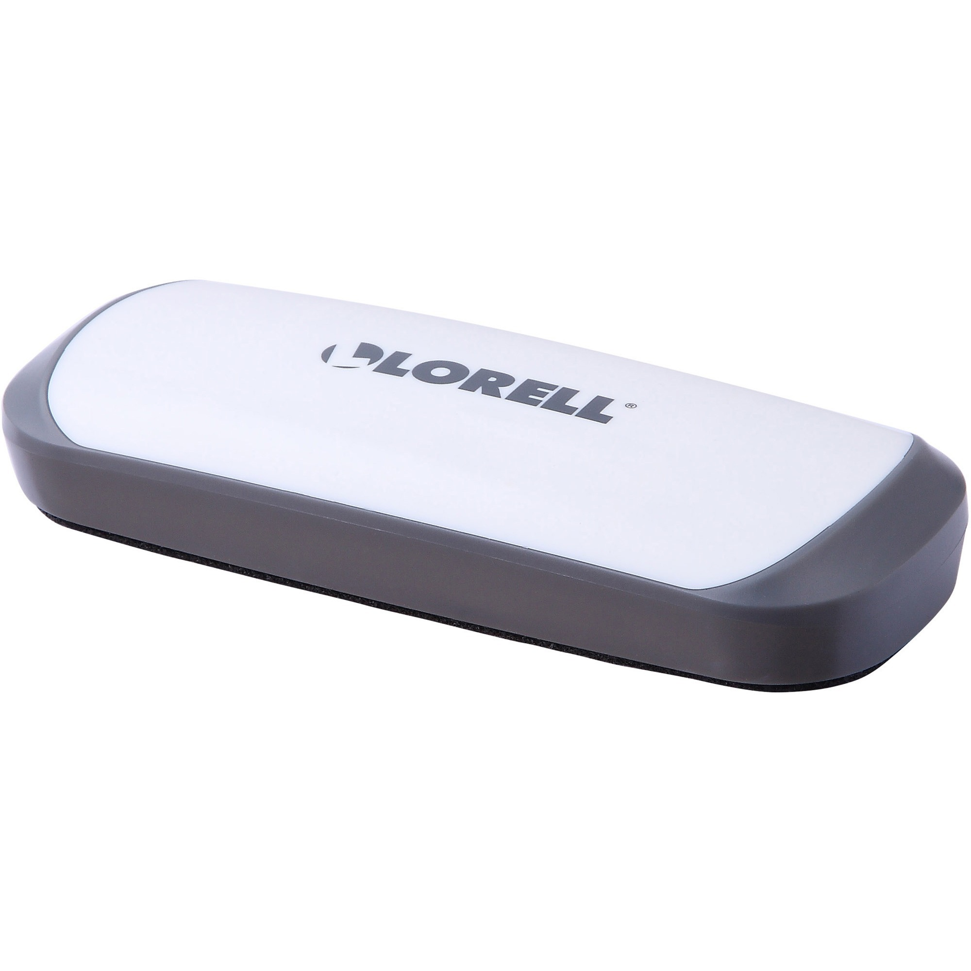Lorell Rare Earth Magnet Board Eraser - Magnetic - Red, White - Plastic - 1EACH
