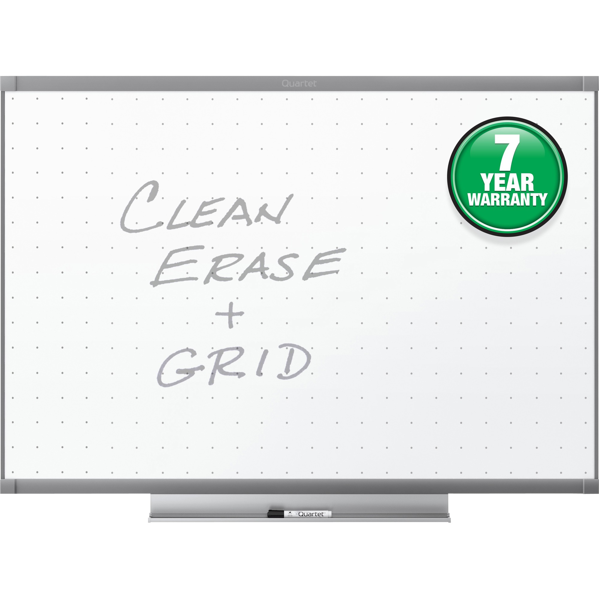 Acco Brands Corporation Quartet® Prestige® 2 Total Erase® Whiteboard, 8 X 4, Graphite Finish Frame - 96 (8 Ft) Width X 48 (4 Ft) Height - White Surface - Graphite Frame - Horizontal - 1 / Each