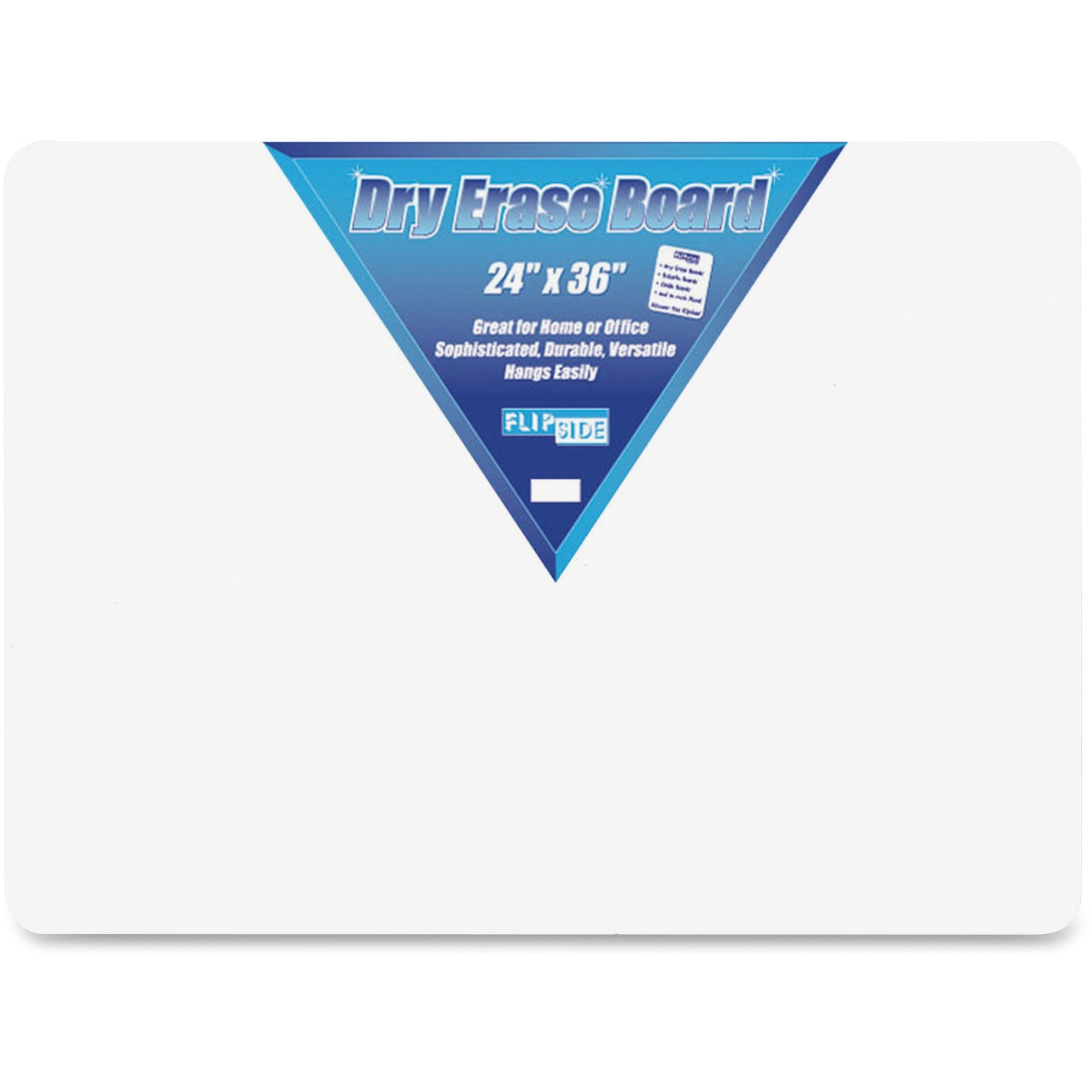 Flipside Products, Inc Flipside Unframed Dry Erase Board - 24 (2 Ft) Width X 36 (3 Ft) Height - White Surface - Rectangle - 1 Each