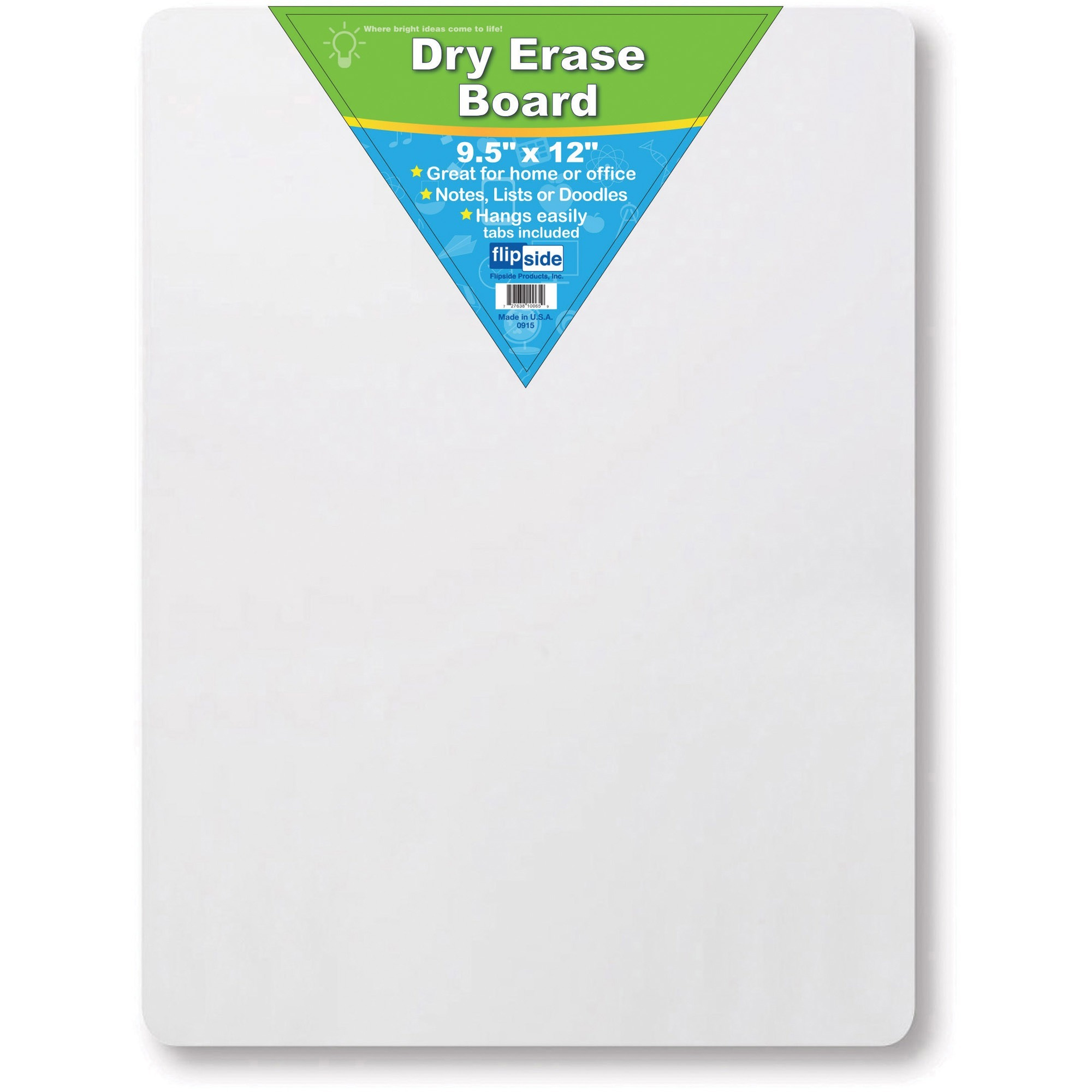 Flipside Products, Inc Flipside Unframed Mini Dry Erase Board - 9.5 (0.8 Ft) Width X 12 (1 Ft) Height - White Surface - Rectangle - 1 Each