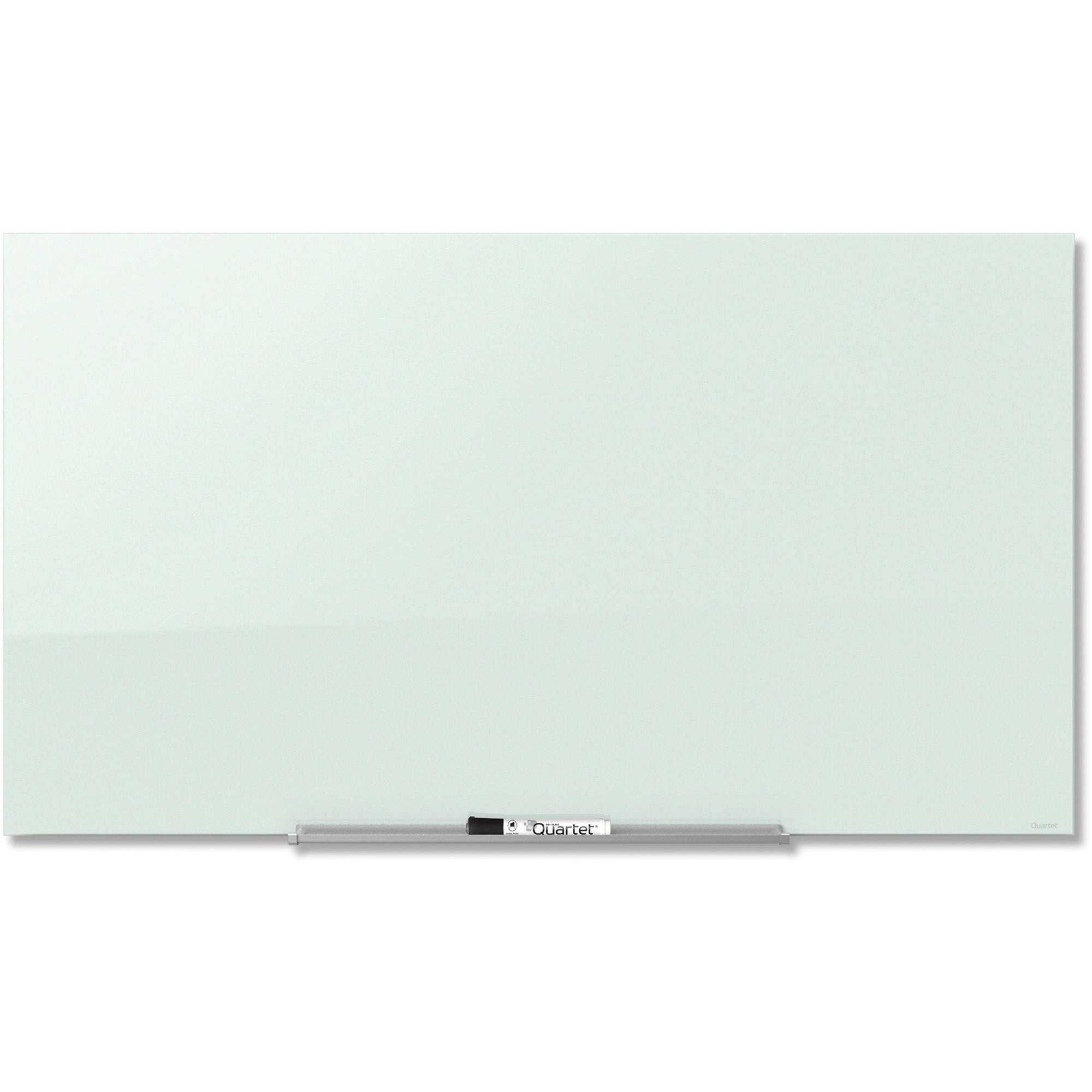 Acco Brands Corporation Quartet® Invisamount Magnetic Glass Dry-erase Board - 39 (3.3 Ft) Width X 22 (1.8 Ft) Height - White Tempered Glass Surface - Horizontal - Assembly Required - 1 Each