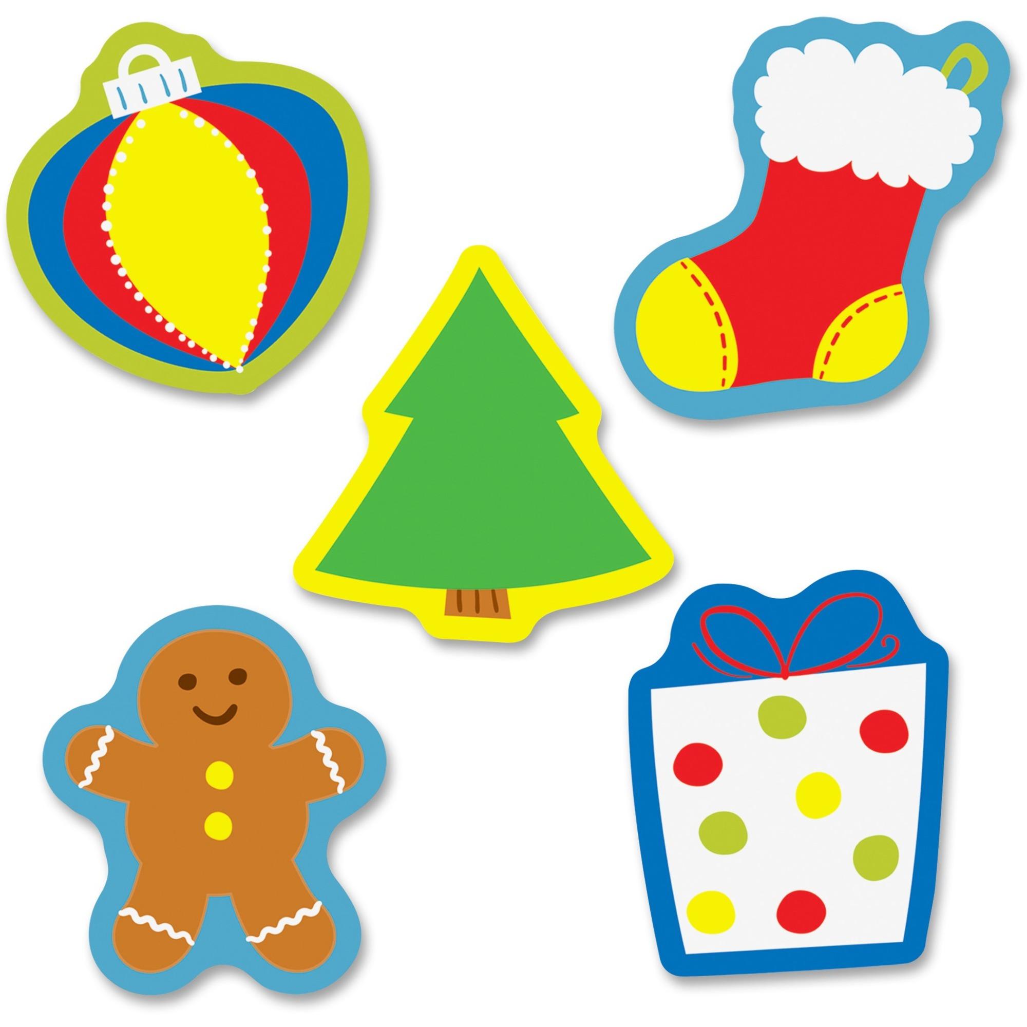 Carson-dellosa Publishing Co., Inc Carson-dellosa Holiday Mix Mini Cut-outs - Learning, Fun Theme/subject - 4, 4, 4, 4, 4, 4, 4, 8, 5 (Stocking, Monster, Blue Light, Gift, Green Light, Yellow Light, Red Light, Ornament, Gingerbread Men) Shape - 3 Width X