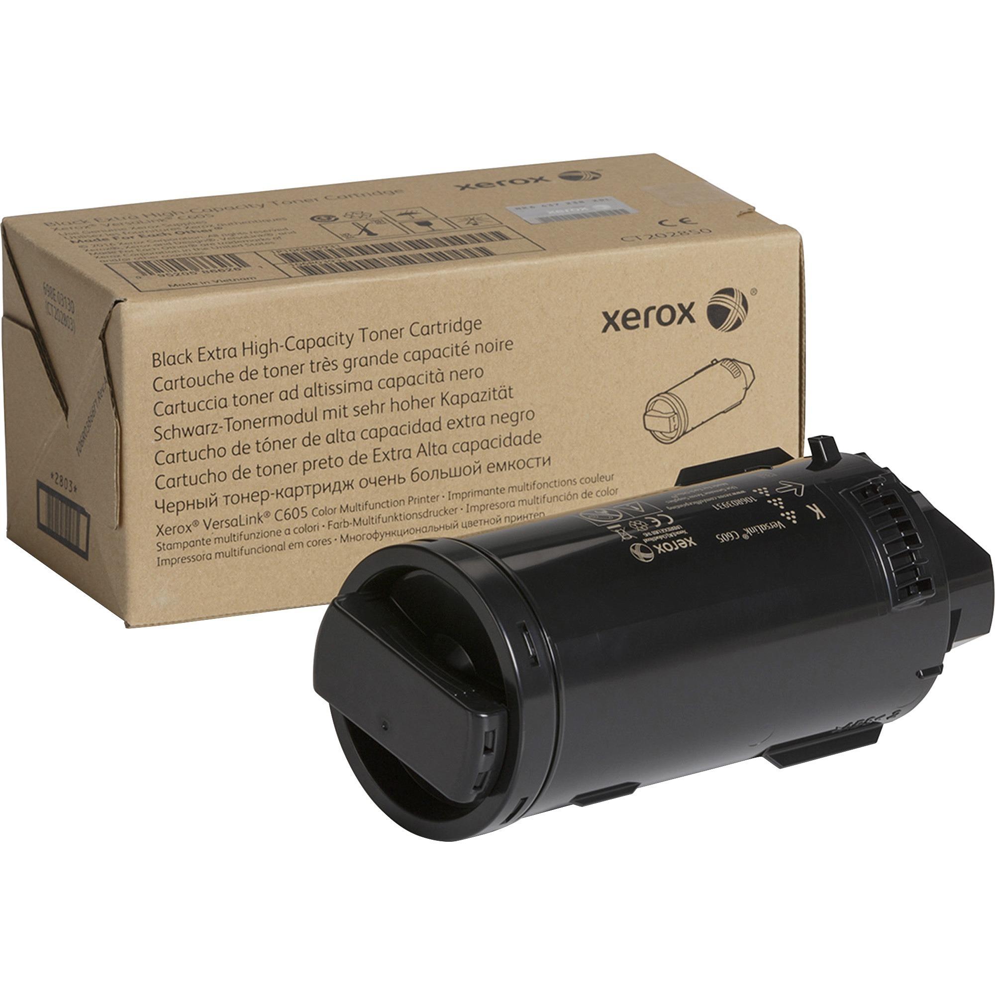 Xerox Genuine Black Extra High Capacity Toner Cartridge For The VersaLink C605