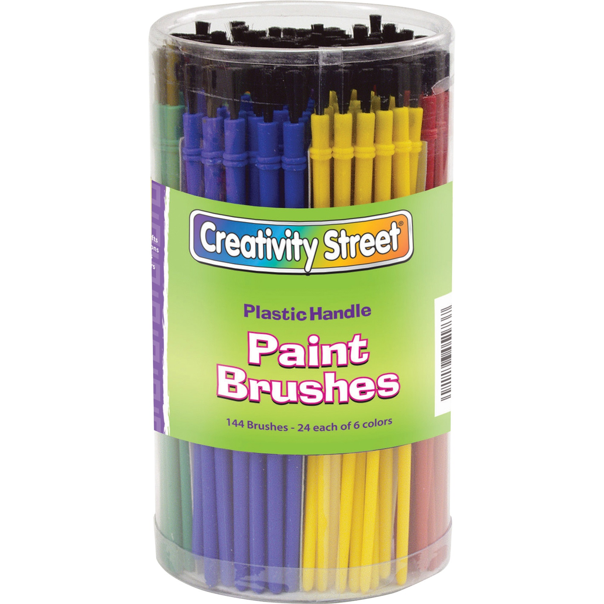 The Chenille Kraft Company Creativity Street Canister Of Paint Brushes - 144 Brush(Es) Plastic