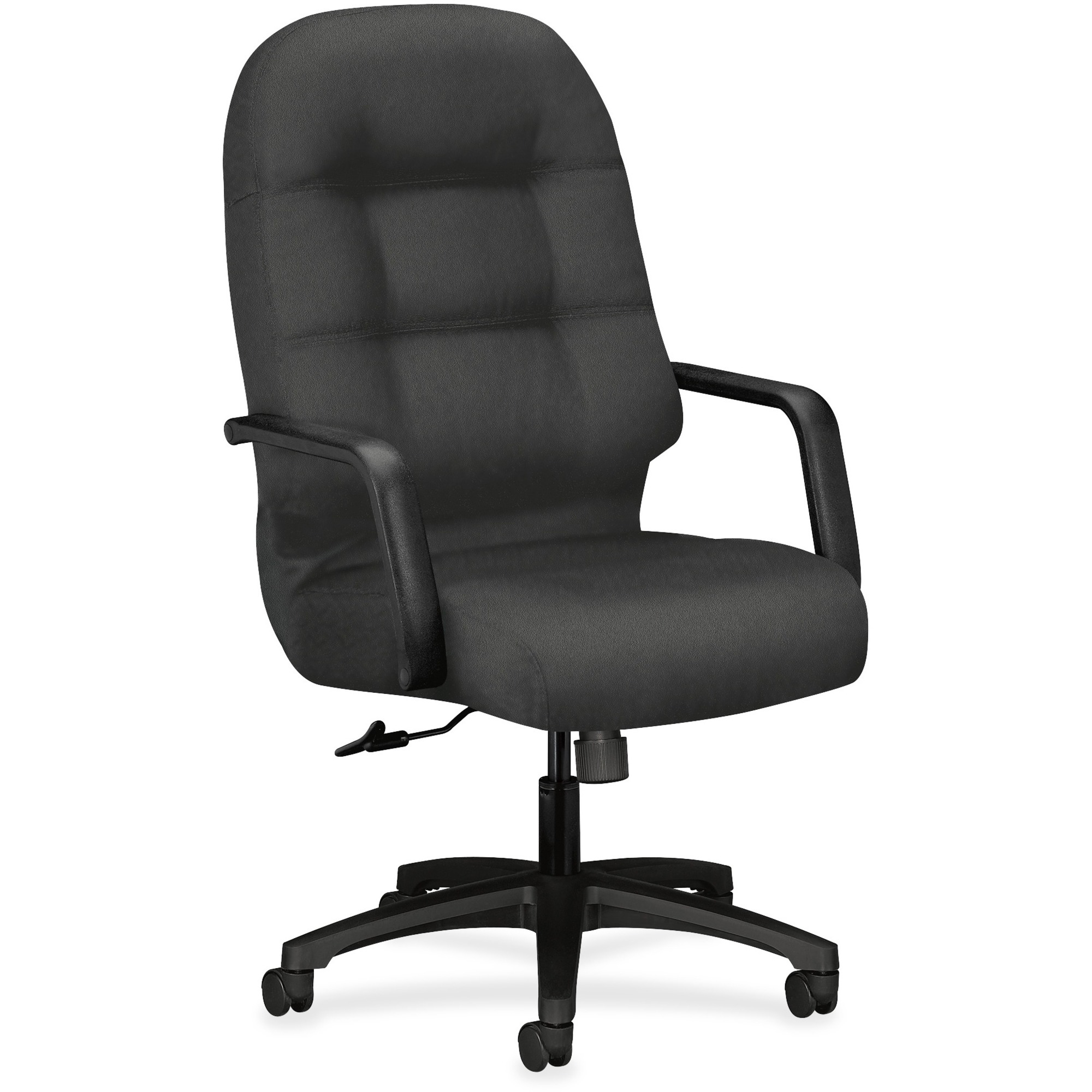 The Hon Company Hon Pillow-soft Executive Chair - Polyester Iron Seat - Polyester Iron Back - Black Frame - 5-star Base - 22 Seat Width X 19 Seat Depth - 26.3 Width X 29.8 Depth X 46.5 Height
