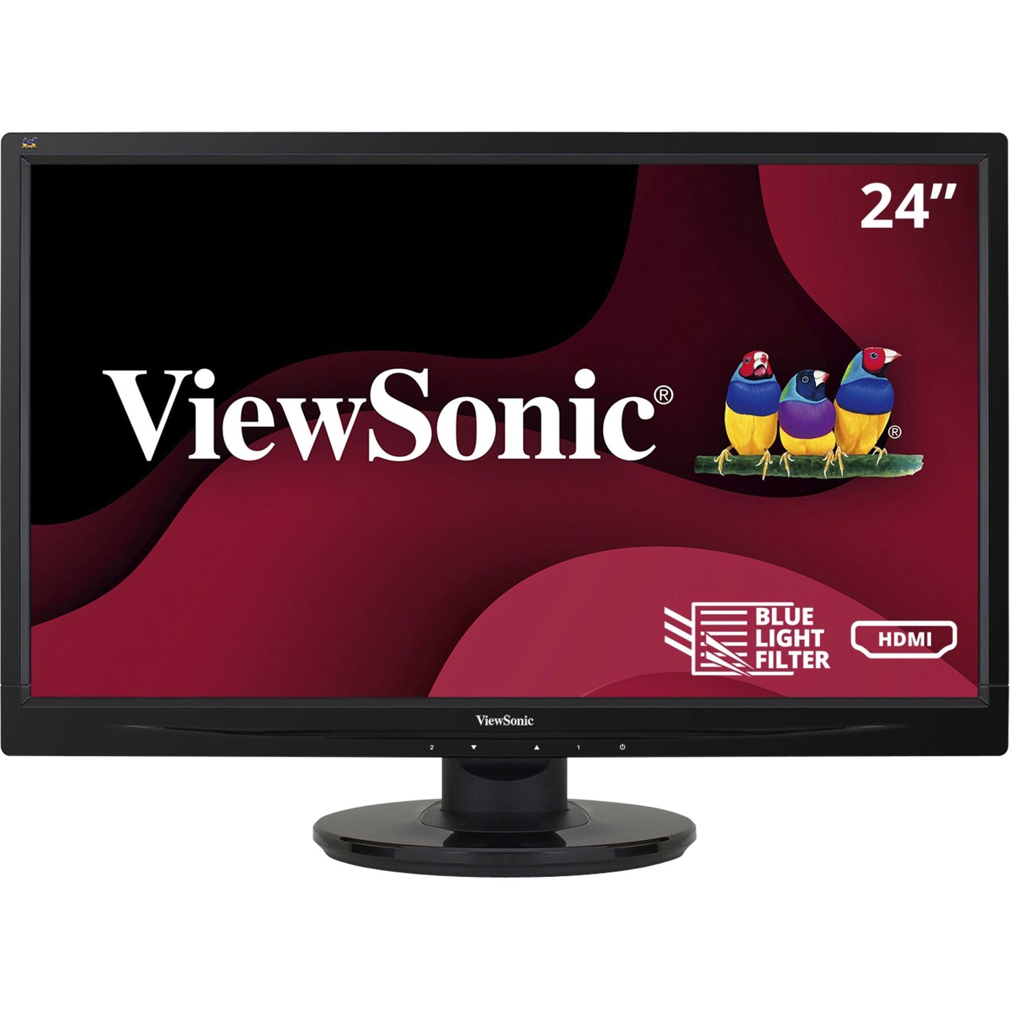 "Viewsonic VA2446MH-LED 24"" Full HD WLED LCD Monitor - 16:9 - Black_subImage_1"