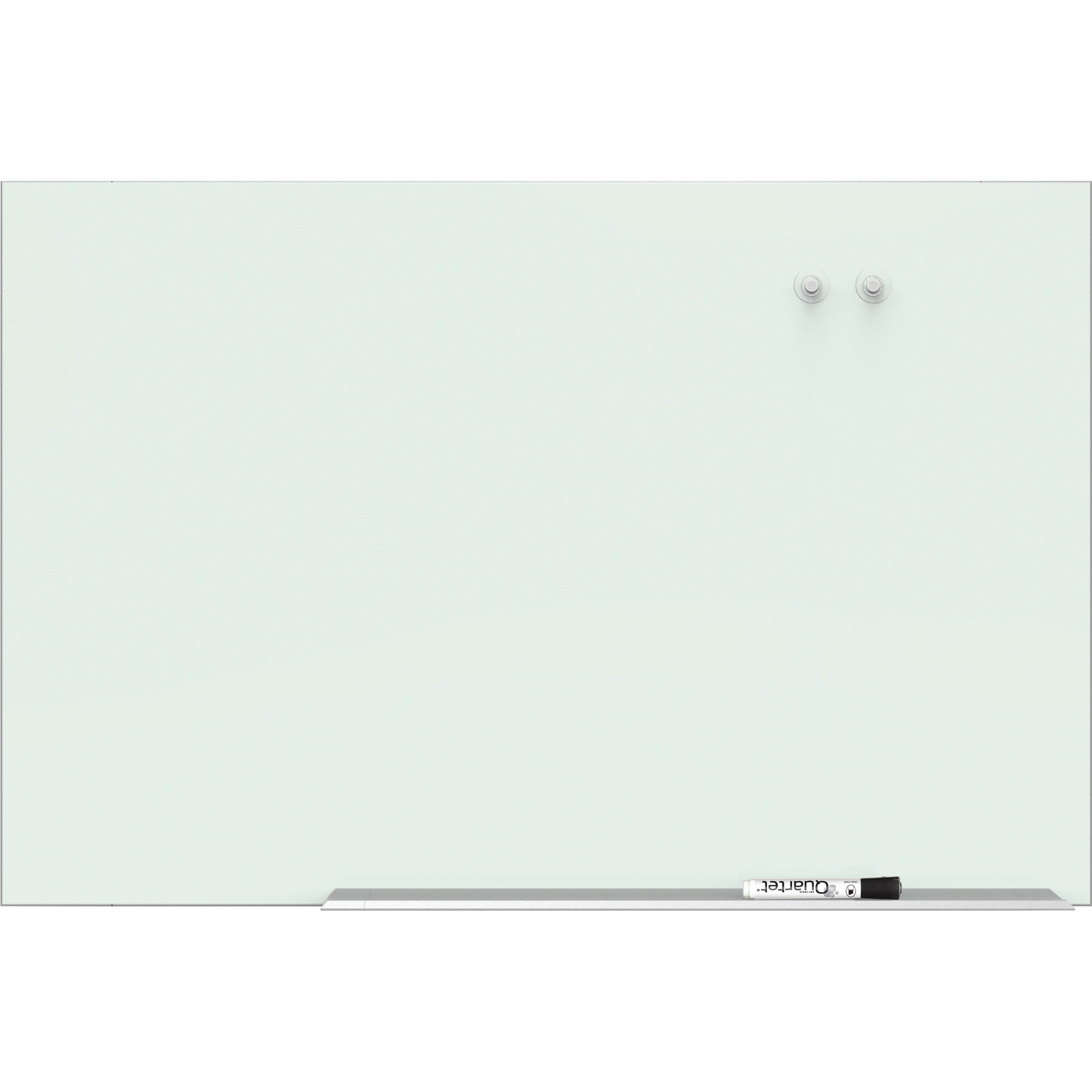 Quartet Element Magnetic Glass Dry-erase Board - 85 (7.1 Ft) Width X 48 (4 Ft) Height - White Tempered Glass Surface - Aluminum Frame - Rectangle - Mount - Assembly Required - 1 Each