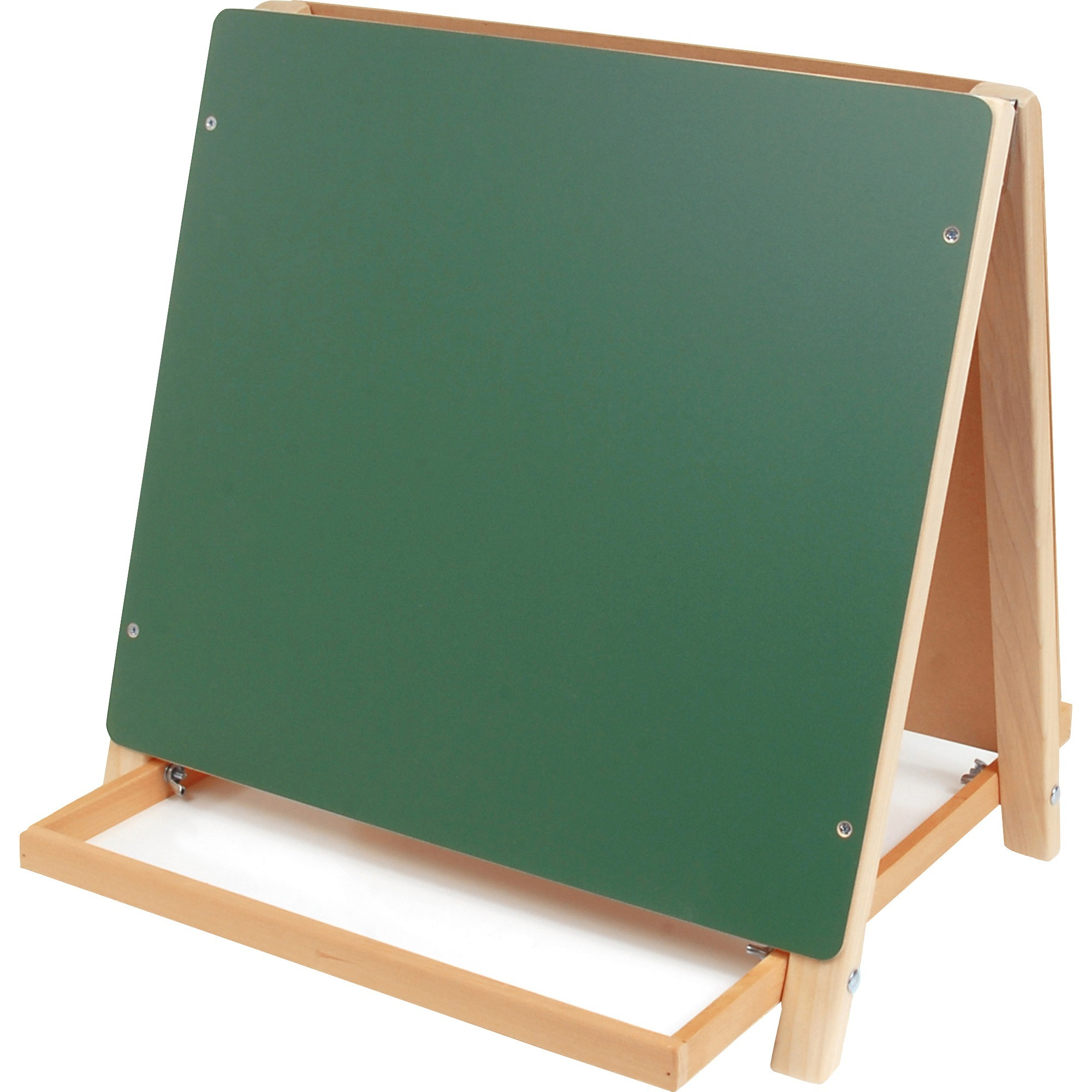 Flipside Products, Inc Flipside Dual Surface Table Top Easel - White/green Surface - Rectangle - Tabletop - Assembly Required - 1 Each