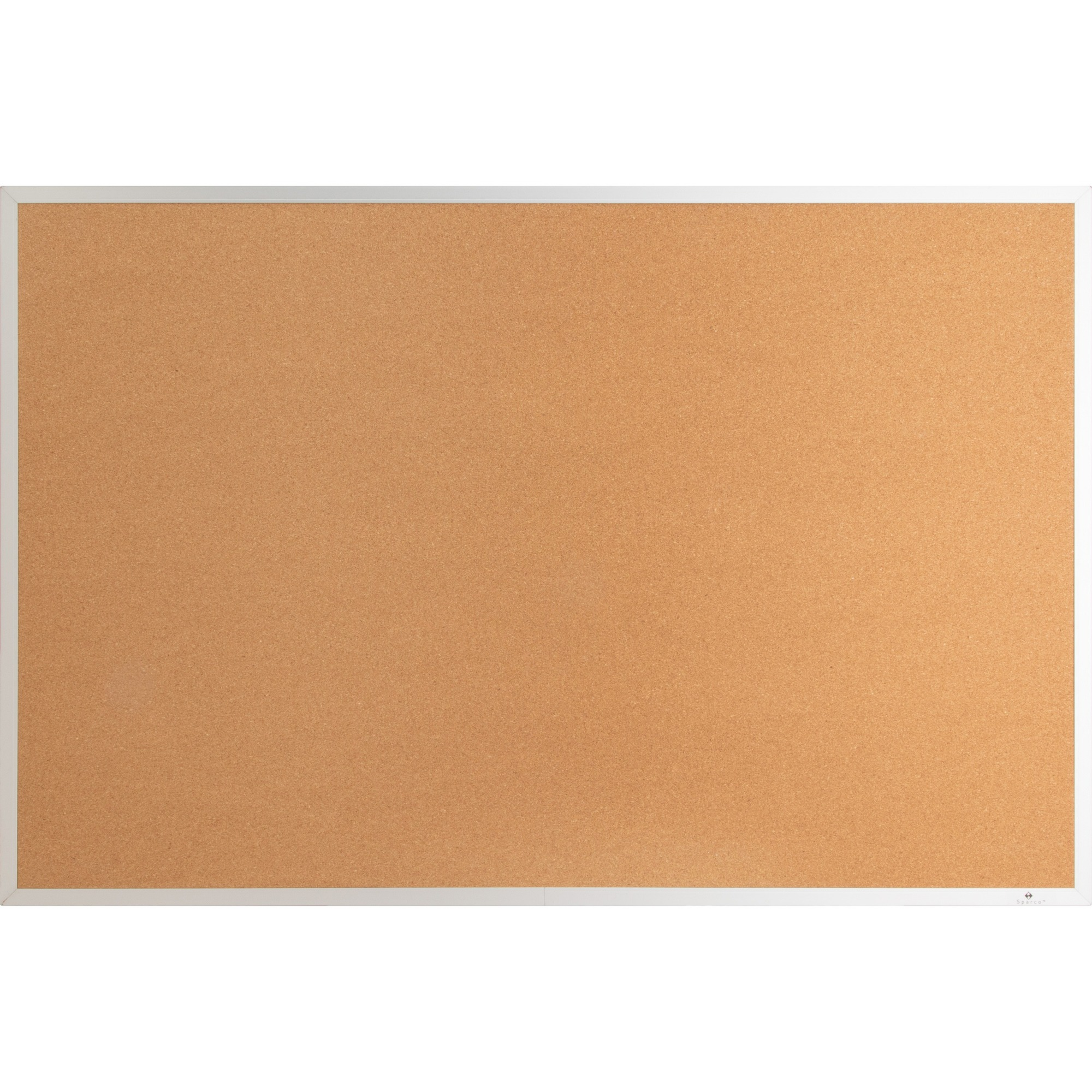Lorell Aluminum Frame Cork Board - 18 Height X 24 Width - Cork Surface - Long Lasting, Warp Resistant - Silver Aluminum Frame - 1 Each