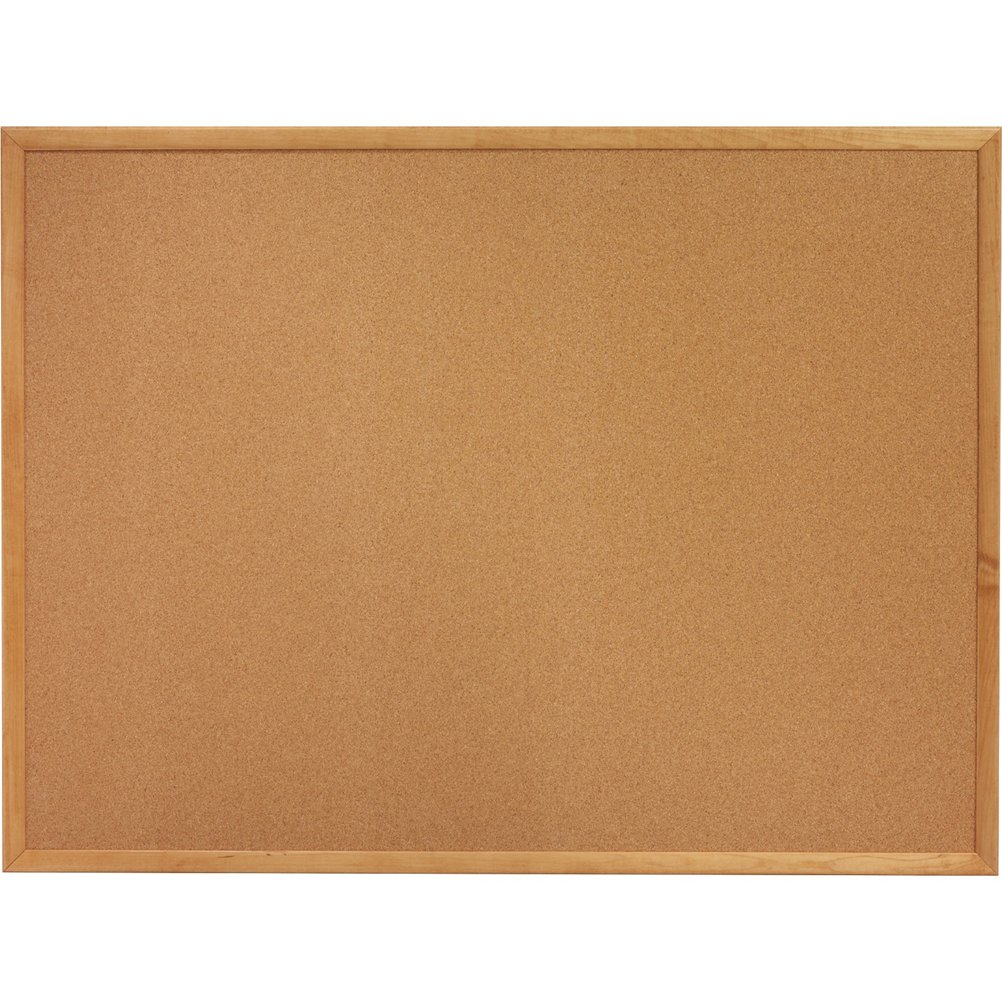 Lorell Oak Wood Frame Cork Board - 18 Height X 24 Width - Cork Surface - Long Lasting, Warp Resistant - Brown Oak Frame - 1 Each