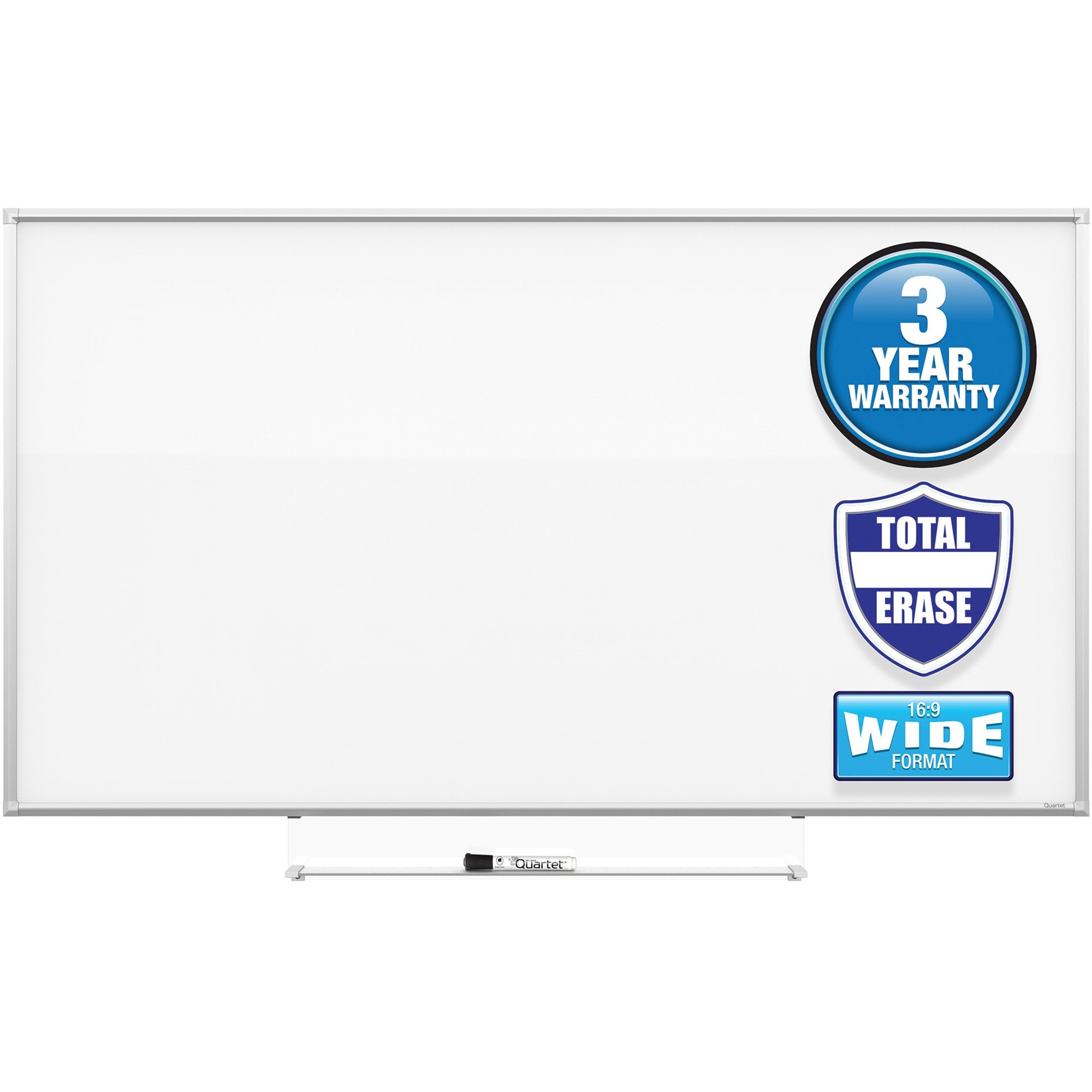 Acco Brands Corporation Quartet Silhouette 50X28 Total Erase Board - 28 (2.3 Ft) Width X 50 (4.2 Ft) Height - White Melamine Surface - Rectangle - Assembly Required - 1 Each