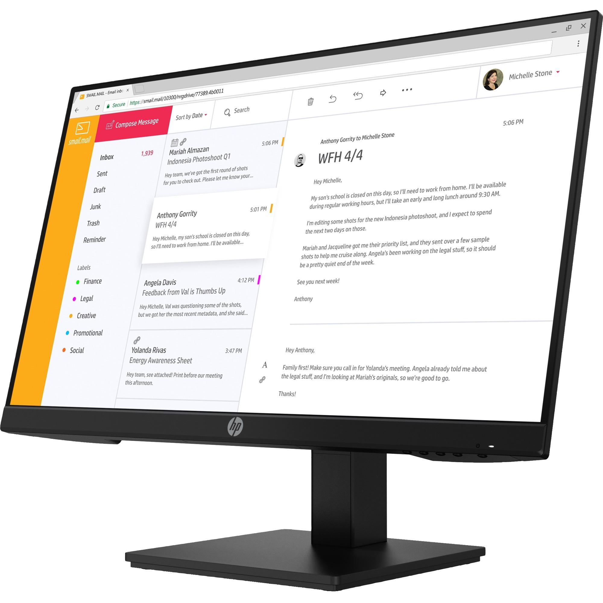 "HP P24 G4 23.8"" Full HD LCD Monitor - 16:9_subImage_1"