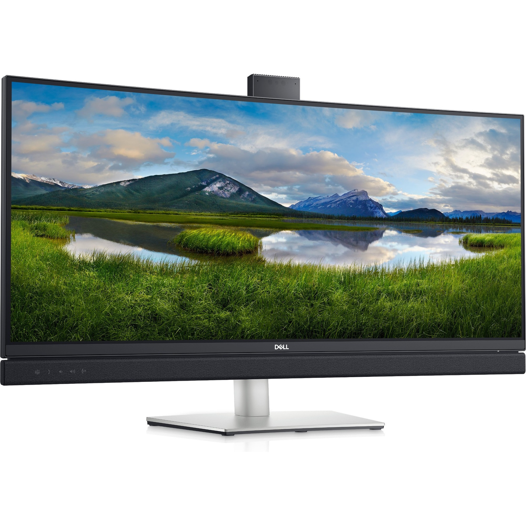 """Dell C3422WE 34.1"""" WQHD Curved Screen Edge WLED LCD Monitor - 21:9 - Platinum Silver_subImage_1"""