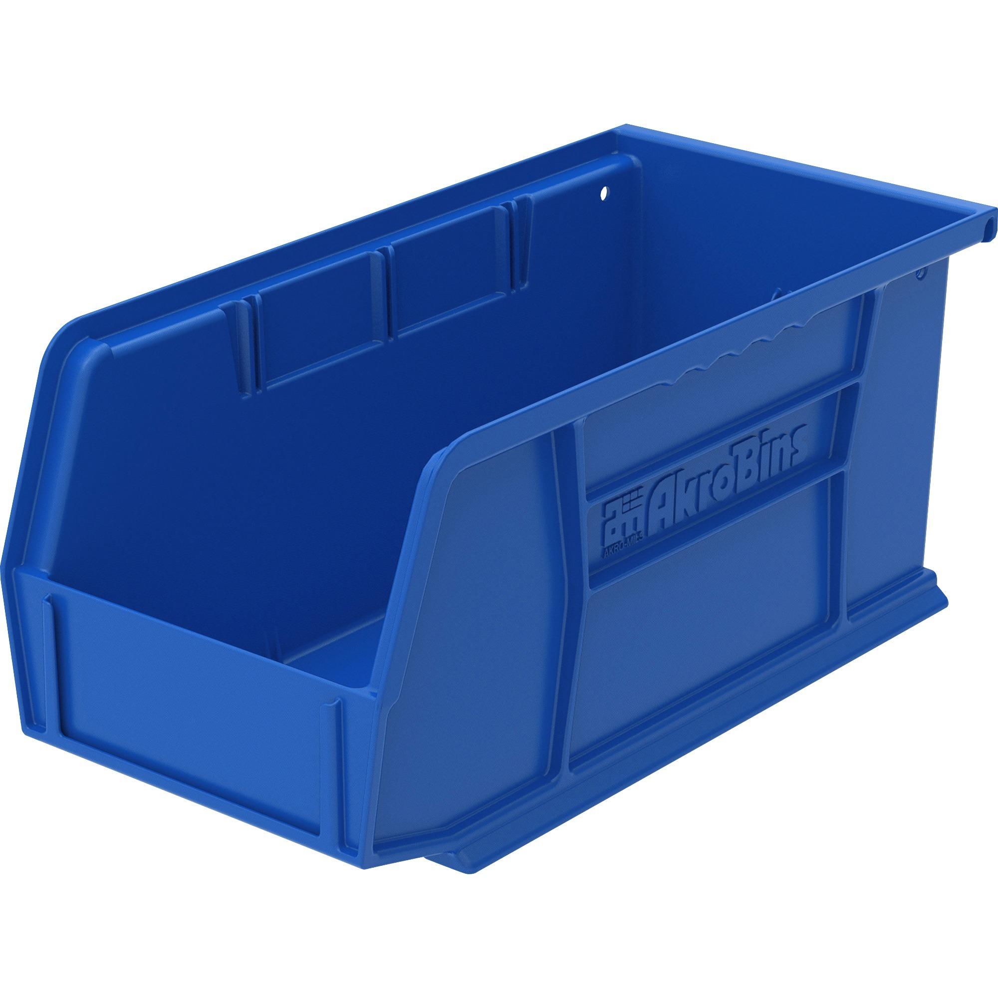 Image for Akro-mils / Myers Industries, Inc Akro-mils Akrobin - 5 Height X 5.5 Width X 10.9 Depth - Rack-mountable - Blue - Polymer - 1 / Each
