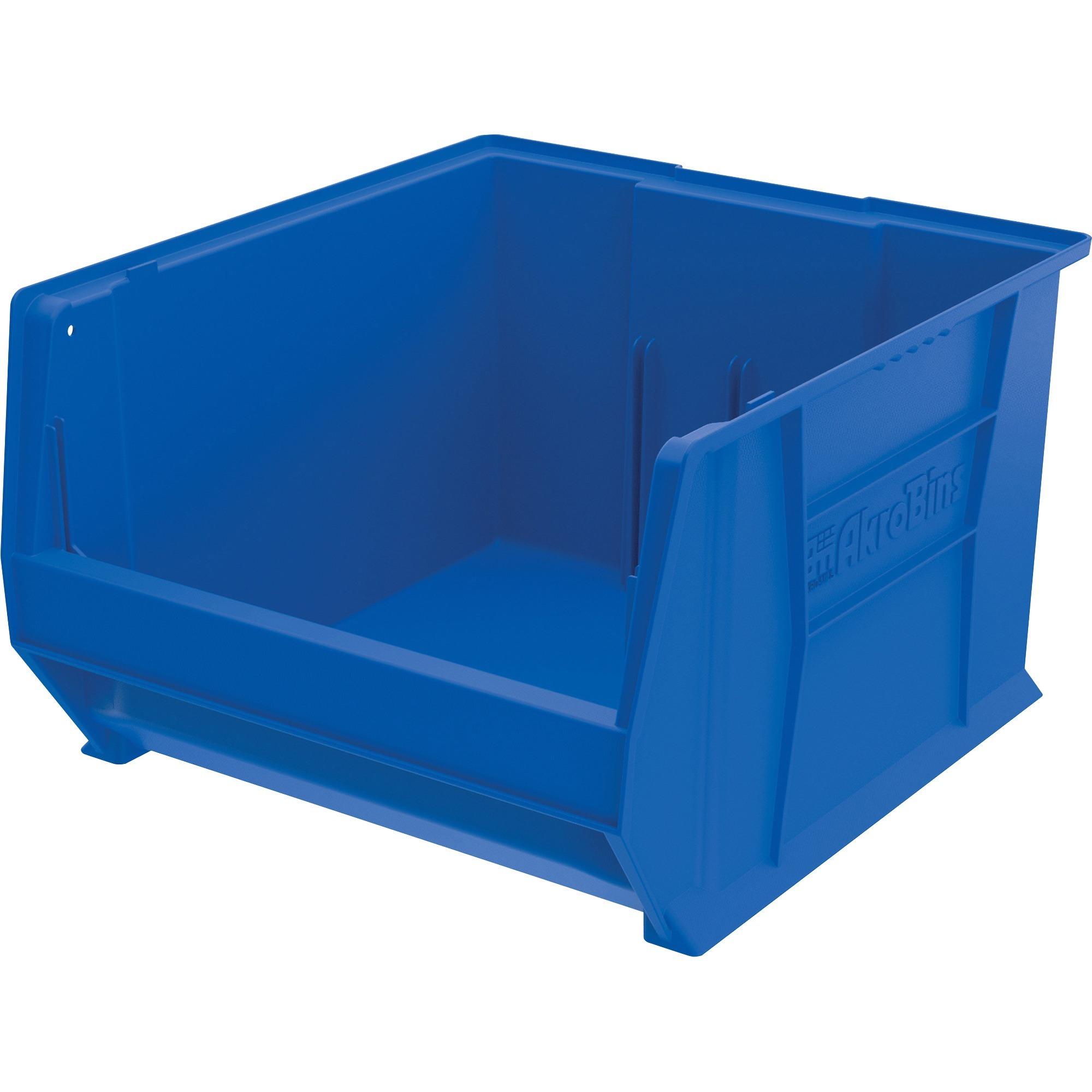 Image for Akro-mils / Myers Industries, Inc Akro-mils Super-size Akrobin - Internal Dimensions: 16.56 Width X 16.87 Depth X 11.37 Height - External Dimensions: 18.4 Width X 20 Depth X 12 Height - 300 Lb - Heavy Duty - Stackable - Polymer - Blue - 1 Each