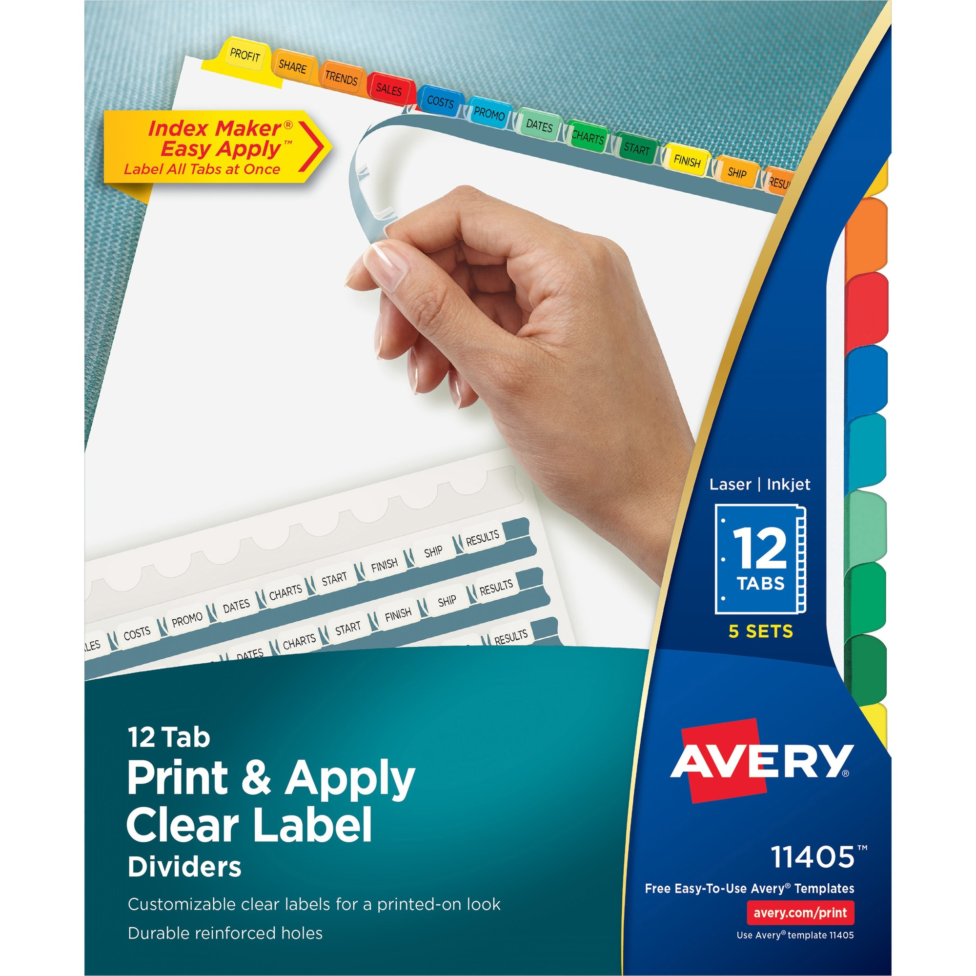 avery print on tabs template.html