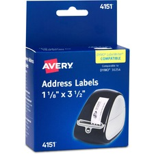 AVE 4151 Avery Label Printer Clear Multi-purpose Labels AVE4151