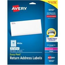 AVE 18167 Avery Laser & Inkjet Return Address Labels AVE18167