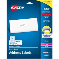 AVE 18160 Avery Easy Peal Address Labels AVE18160