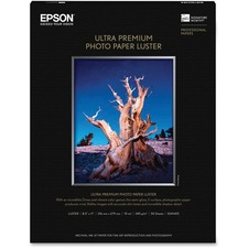 "Epson Photographic Paper - Letter - 8.5\"" x 11\"" - 240g/m² - Luster - 97 ISO Brightness - 50 / Pack - White"