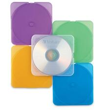 VER 93804 Verbatim Trimpak Color CD/DVD Cases VER93804