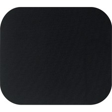 "Fellowes Mouse Pad - Black - 8"" x 9"" x 0.2"" Dimension - Black - Polyester - Scratch Resistant"