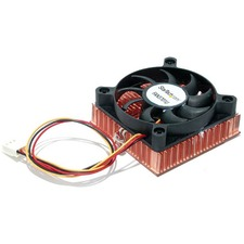 StarTech.com 1U 60x10mm Socket 7/370 CPU Cooler Fan w/ Copper Heatsink & TX3