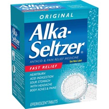 Acme United Alka-Seltzer Single Dose Packets - For Acid Indigestion, Headache, Heartburn, Sour Stomach, Pain - 36 / Box