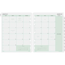 DTM 87329 Day-Timer 2PPM Planner Binder Monthly Refills DTM87329