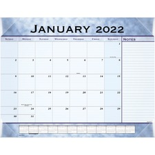 AAG 89701 AT-A-GLANCE Slate Blue Monthly Desk Pad Calendar AAG89701