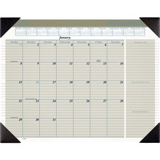AAG HT1500 At-A-Glance Executive Monthly Calendar Desk Pad AAGHT1500
