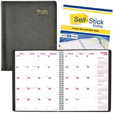 RED CB1262NBLK Brownline PlannerPLUS 14-Month Ruled Monthly Planner REDCB1262NBLK