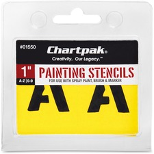 CHA 01550 Chartpak Painting Letters/Numbers Stencils CHA01550
