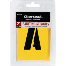 CHA 01555 Chartpak Painting Letters/Numbers Stencils CHA01555