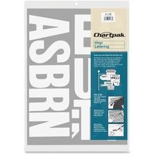 """CHA 01180 Chartpak 3"""" Vinyl Capital Letters CHA01180"""