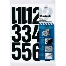 CHA 01193 Chartpak Permanent Adhesive Vinyl Numbers CHA01193